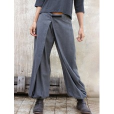 Women Pasteable Loose Pants Irregular Casual Gong Fu Trousers